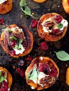 Sweet-Potato-Rounds-Recipe-with-Goat-Cheese-Cranbe