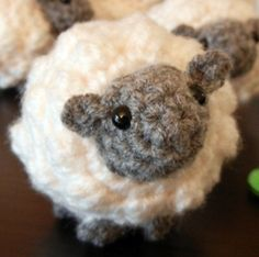 crochet sheep ~ it isn't knitting, but she sure is cute!