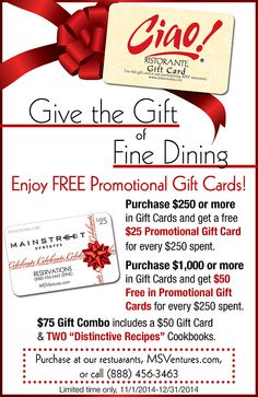Give the Gift of Fine Dining