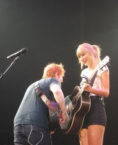 Taylor Swift & Ed Sheeran.....PERFECTION in one picture