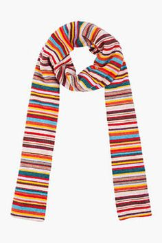 Paul Smith - PAUL SMITH Classic Knit Multistripe Scarf