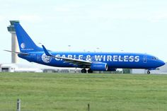 Ryanair Boeing 737-800, (EI-CSC)  Cable & Wireless livery - |STN|  One of Ryanair's oldest 737-800s and was sold to Varig.