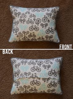 Throw pillow piping instructions