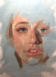 acrylic painting portrait Cassie - Acrylic on board Acrylic Face Painting, Portrait Acrylic, Acrylic Art, Portrait Art, Painting Portraits, Knife Painting, Painting Art, Art Sketches, Art Drawings