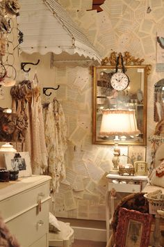 Room 363: I love the old window cover on the wall...imagine a few romantic antique pastel  dresses hanging from underneath...me thinks anyway.