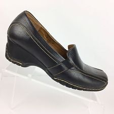 ae57cac962c I Love Comfort Womens Loafers Size 9 M Black Leather Blair Wedge Heel Wedge  Loafers