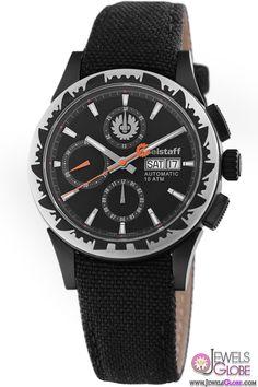 Belstaff Mens Adventure Collection Black Dial Chronograph Popular Watch