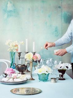 light-turquoise-table-setting - Once Wed