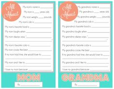 Cupcake Diaries: Mother's Day Questionnaire {A FREE Printable for the Kids!}