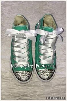 Women s Bling Converse for Brides 80746e30b1