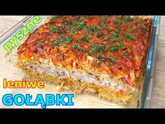 Obłędnie smaczna zapiekanka z kapusty 👌 pyszniejsza od gołąbków 👍 niezwykle proste i smaczne danie - YouTube Amazing Food Videos, Polish Recipes, Meatloaf, Banana Bread, Allrecipes, Cabbage, Pork, Food And Drink, Lunch