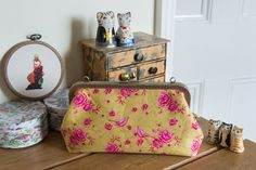 Sewing case and sewing accessories  the by CrimsonRabbitBurrow