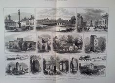 1882 PRINT SKETCHES OF CARLISLE AND THE ROMAN WALL | eBay