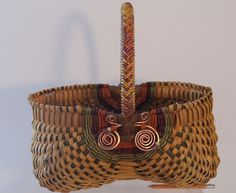 Hand woven OVAL EGG BASKET Braided handle by JChoateBasketry, $55.00