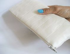 Silk ivory clutch