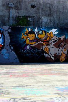 Inked Floor to Wall #wynwood #miami #streetart #urbanart #grindsk8club