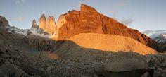 Rojo amanecer Torres del Paine