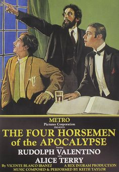 1921: Four Horsemen of the Apocalypse epic war film directed by Rex Ingram. stars, Rudolph Valentino, and Alice Terry.Often regarded as one of the first true anti-war films, a huge cultural impact and became the top-grossing film of 21. The film turned little-known actor Rudolph Valentino into a superstar and associated him with the image of the Latin Lover. The film also inspired a tango craze.The film was masterminded by June Mathis, who, became one of the most powerful women in…