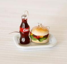 hamburger earrings - Buscar con Google