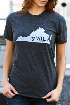 Virginia Y'all Shirt on BourbonandBoots.com