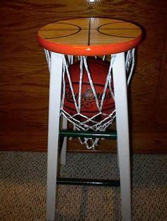 Basketball Bar Stool by AndersonsDesignCo on Etsy, $75.00