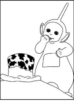 teletubbies dipsy viewing hats coloring picture for kids