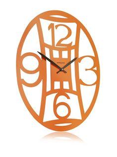 60% OFF Diamantini & Domeniconi Oval Office Clock, Orange