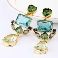 Moda Exquisito Cristal Pendientes de Gota de Agua Para Las Mujeres de la Fábrica Al Por Mayor Envío Gratuito