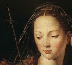 Agnolo Bronzino. The Madonna and Child with the Infant St. John the Baptist. Detail. c.1540-50.
