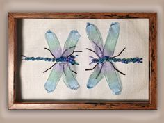I ❤ ribbon embroidery . . . How to make silk ribbon embroidery dragonflies. www.craftyattic.com shows you how to embroider these beautiful silk ribbon work dragonflies. This straight forward film demonstrates how to create wings, body & limbs of these creatures, in addition to showing you how to color your embroidery