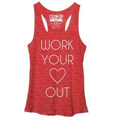 CHIN UP Women's - Heart T-Shirt #workout #fitgirls #chinupapparel