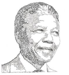 Nelson Mandela Portrait handcrafted using words by storyportrait, $19.00