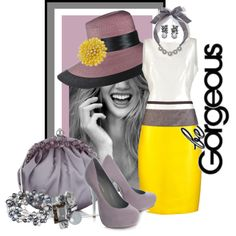 'Be Gorgeous in Gray's & Yellow', created by rjaynne on Polyvore