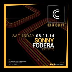 Sonny Fodera (Defected) at Circuit 36-38 North Street, Romford, RM1 1BH, UK. On 8 Nov 2014 at 10:00pm to 4:30am. Working closely with Defected we are proud to announce the first of many guests from their house to ours, Essex make some noise for Sonny Fodera Main Room: Rolling. Bouncy. House. Residents: Jack Cavanagh, Alex Francis, Wade Kadir, Pete Nicholls, & Tony. URLs: Tickets: http://atnd.it/16844-1 Booking: http://atnd.it/16844-2, Category: Nightlife, Price: £8, Artists: Sonny Fodera.