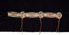 American Indian Art:Beadwork and Quillwork, A CROW OR PLATEAU QUILLED AND BEADED BUFFALO HIDE BLANKET ... Image #2