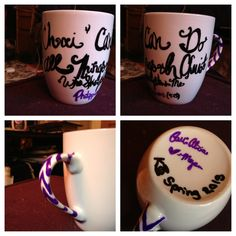 Big Little Mug for Kappa Phi Spring 2013 Has Little's fave bible verse Philippians 4:13