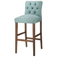 """Threshold™ 30"""" Brookline Tufted Bar Stool I think this pop of blue in the kitchen would look great"""