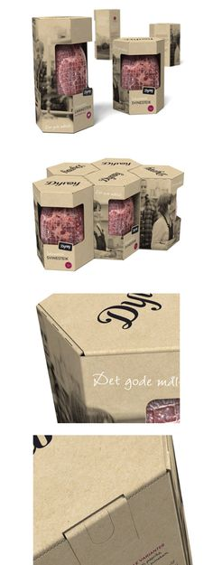 Clever #packaging #design lets' eat some meat PD