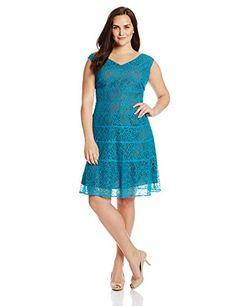 Anne Klein Women's Plus-Size Portrait Necklace Lace Swing Dress, Mykonos Blue, 14W Anne Klein http://www.amazon.com/dp/B00KC2XA5I/ref=cm_sw_r_pi_dp_9Ed6tb1C6FJAA