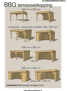 Tekening houten overkapping – Dak te repareren Drawing wooden roof - Roof to be repaired Backyard Pavilion, Patio Gazebo, Backyard Sheds, Backyard Patio Designs, Outdoor Pergola, Backyard Landscaping, Patio Ideas, Pavers Patio, Cheap Pergola