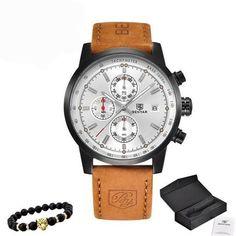 22dc14b7fd0 Relógio Masculino Benyar com Pulceira de Couro  moda  modamasculina   modasocial  acessórios