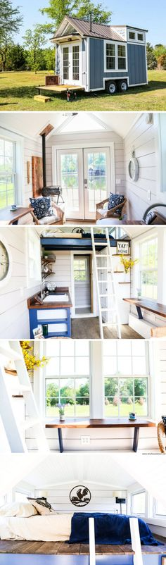 A beautiful 210-sq-ft tiny house available for sale from Free Range Tiny Homes