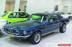 1967 Ford Mustang Nightmist Blue Manual 3sp M Hardtop #ford #mustang #forsale #australia