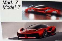 The Ferrari LaFerrari Proposals That Didn't Make The Cut - Auto - Conceptual Drawings & Design Models - Autos Car Design Sketch, Car Sketch, Batman Car, Conceptual Drawing, Ferrari Laferrari, Future Car, Future Tech, Transportation Design, Ford Gt