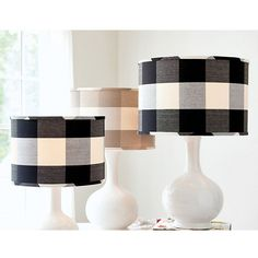 Our timeless Buffalo Check has never been more popular. Our Buffalo Check Lampshade is an easy way to layer in the look with a punch of color and pattern. Handmade of cotton. Tufted Accent Chair, Wooden Bar Stools, Candle Wall Sconces, Ballard Designs, Headboards For Beds, Table Covers, Sofa Covers, Home Office Furniture, Buffalo Check