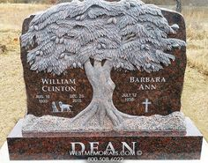 Goldberg Rough Rock Tree Carving Headstone in Black Granite Unusual Headstones, Cemetery Headstones, Cemetery Art, Tombstone Epitaphs, Tombstone Designs, Cemetery Decorations, Cemetery Monuments, Funeral Planning, Famous Graves