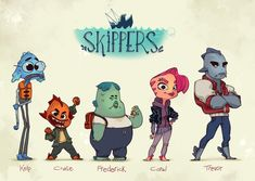 Skippers by rileyphillipsart on DeviantArt Game Character Design, Character Design Inspiration, Character Concept, Character Art, Cartoon Sketches, Cartoon Styles, Cartoon Art, Monster Characters, Affinity Designer