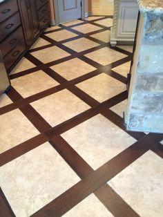 Tile And Flooring tile and wood combo floor Kitchen Floor Idea