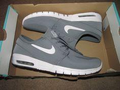 Nike SB Stefan Janoski Max Skateboarding Shoes Mens 12 Cool Grey 631303 011 #Nike #Skateboarding