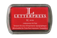 Letterpress Ink Pads - Red by We R Memory Keepers for Scrapbooks, Cards, & Crafting found at FotoBella.com